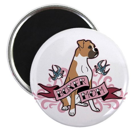Boxer Mom Tattoo Magnet