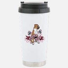 Boxer Mom Tattoo Travel Mug