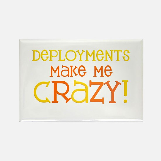 Deployments make me CRAZY! Rectangle Magnet