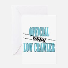 Official USNG Low Crawler (boy) Greeting Card