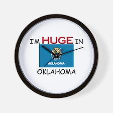 I'd HUGE In OKLAHOMA Wall Clock