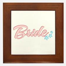 Cute Marine bride Framed Tile