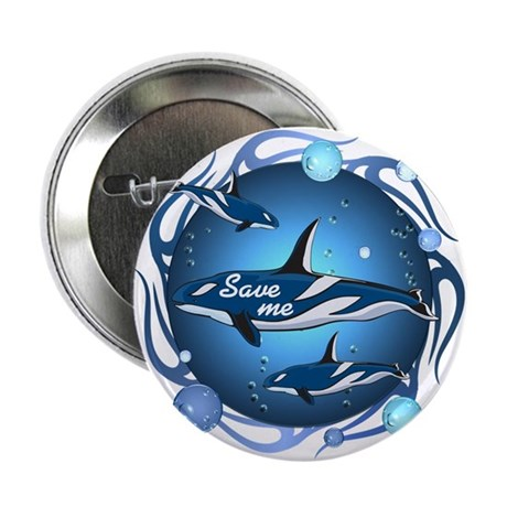 "Save the whales 2.25"" Button (10 pack)"