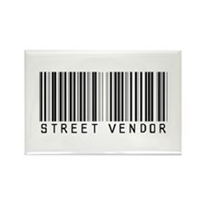 Street Vendor Barcode Rectangle Magnet