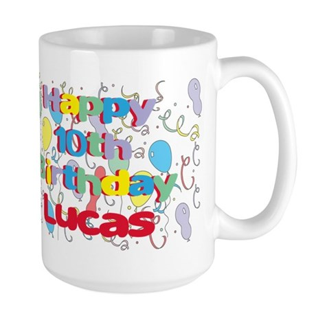 Lucas's 10th Birthday Large Mug