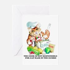 Cajun Chef Cat Greeting Cards (Pk of 10)