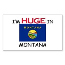 I'd HUGE In MONTANA Rectangle Decal