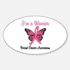 Breast Cancer Warrior Oval Decal