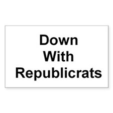 Republicrat Rectangle Decal
