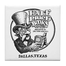 """Half Price Books"" Tile Coaster"