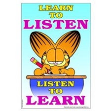 Learn to Listen Garfield Large Poster