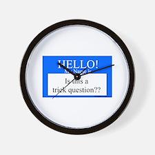 Trick Question?? Wall Clock