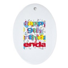 Kendall's 9th Birthday Oval Ornament
