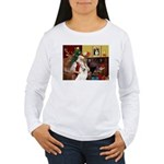 Santa's Samoyed Women's Long Sleeve T-Shirt