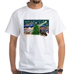 XmasMagic/2 Rotties White T-Shirt
