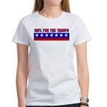100% Support The Troops Women's T-Shirt