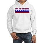100% Support The Troops Hooded Sweatshirt