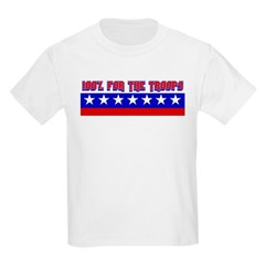 100% Support The Troops Kids T-Shirt