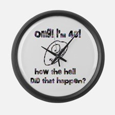 OMG! I'm Forty Large Wall Clock