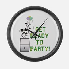 Ready To Party Large Wall Clock