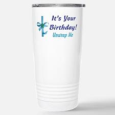 It's Your Birthday! Unwrap Me Stainless Steel Trav