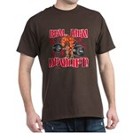 REAL MEN DEADLIFT! - Brown T-Shirt