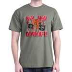 REAL MEN DEADLIFT! - Army Green T-Shirt