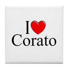 "I Love (Heart) Corato"" Tile Coaster"