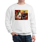 Santa's Two Pugs (P1) Sweatshirt
