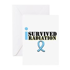 Prostate Cancer Radiation Greeting Cards (Pk of 10