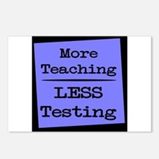 More Teaching, Less Testing Postcards (Package of