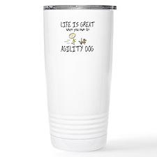 Life is Great Agility Dog Travel Mug