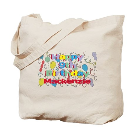 Mackenzie's 9th Birthday Tote Bag