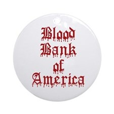 Accept Donations with this Ornament (Round)