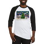 Christmas Magic & Pomeranian Baseball Jersey