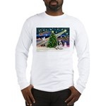 Xmas Magic/PBGV (#1) Long Sleeve T-Shirt