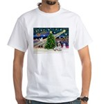 Xmas Magic/PBGV (#1) White T-Shirt