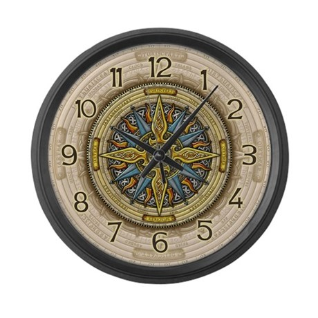 celtic compass large wall clock by artoffoxvox