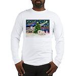 XmasMagic/Pekingese (4w) Long Sleeve T-Shirt