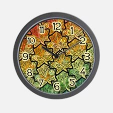 Celtic Leaf Tesselation Wall Clock