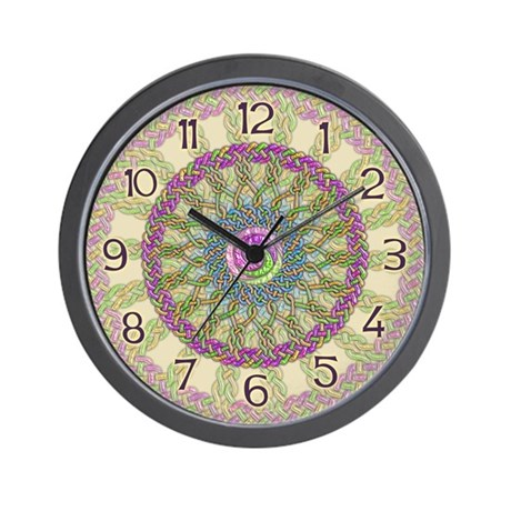 Celtic Spring-Easter Mandala Wall Clock