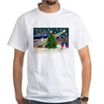 Xmas Magic Papillon (f) White T-Shirt