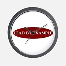 Lead by Example Oval Wall Clock
