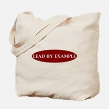Lead by Example Oval Tote Bag