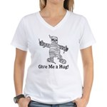 Get a Halloween Hug with this Women's V-Neck T-Shi