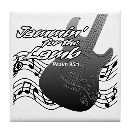 Guitar Praise Tile Coaster