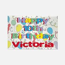 Victoria's 10th Birthday Rectangle Magnet
