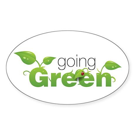 """Going Green"" Oval Sticker"