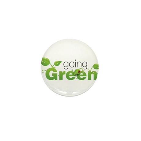 """""""Going Green"""" Mini Button (10 pack)"""