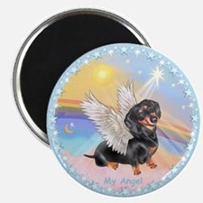 "Clouds/Dachshund Angel 2.25"" Magnet (100 pack)"